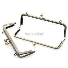 10Pcs Bronze Tone Ball Carved Arch Frame Kiss Clasp Lock For Purse Bag Handbag Handle 20cmx8cm недорого