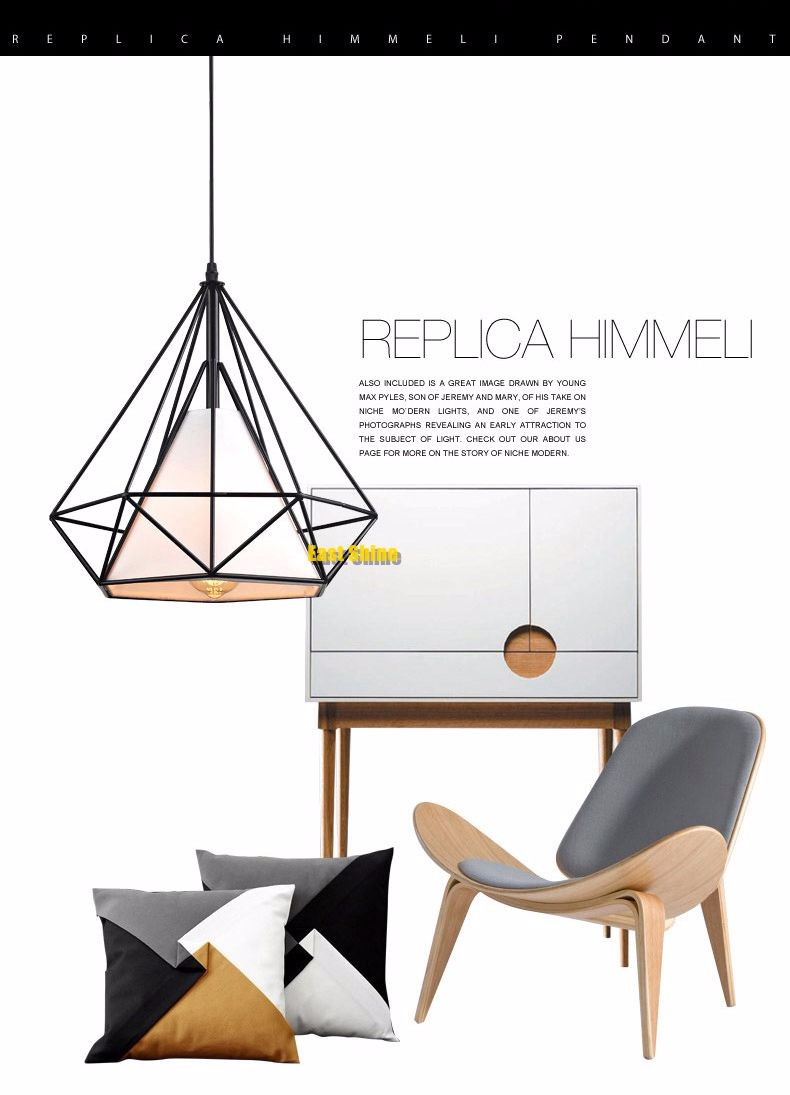 Modern Metal Birdcage Pendant Light Black Minimalist Pendant Lamp E27 Hanging Lamp Light Fixtures Scandinavian Pyramid Lamp (2)