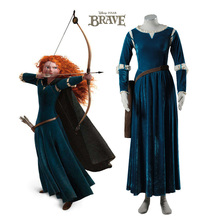 Brave Merida cosplay costume Halloween costumes for women cosplay Princess Merida dress with quiver Merida suit цена