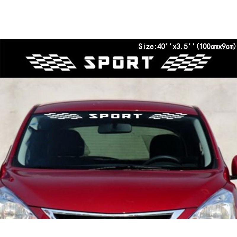 YongXun Car Sport Checkered flags Windshield Decal Window Vinyl Side Stickers yongxun car dual stripes racing for alfa romeo 147 156 159 166 giulietta vinyl decal side stickers da 9897