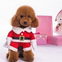3D Gato De la Navidad Ropa Para Mascotas Perro Gato Traje de Santa Claus traje de Invierno de Navidad Para Mascotas Ropa Abrigo de Algodón Ropa para Gato perro
