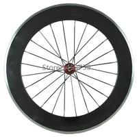 Alloy Braking Surface 80mm Clincher Carbon Wheelset T700c Carbon Fibre Road Bike Carbon Wheels