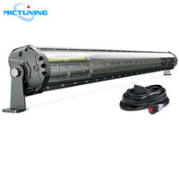 MICTUNING Upgraded M2 Quad Row 42'' Car Straight LED Light Bar for SUV ATV Off Road Led Work Lamp w/ Wiring Harness Accessories
