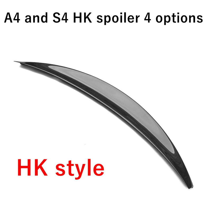 Для Audi S4 A4 B8 B8.5 4 Двери Седан HK стиль высокий удар высокое качество карбоновое волокно заднее крыло крыша задний ящик украшенный спойлер