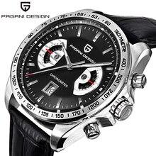 Watches Men Luxury Brand PAGANI DESIGN Big Dial Multifunction Quartz Watch Sport Dive 30m Military Wristwatch 2016 New