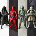 Star Wars figura de acción de juguete famoso general 2017 New star wars Clone Storm Trooper Boba Fett Darth Vader caballero Negro guardias Rojos