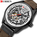 Neue Mode CURREN Luxus Marke Uhr männer Automatische Mechanische Uhr Männer Sport Wasserdichte Leder Uhren Relogio Masculino