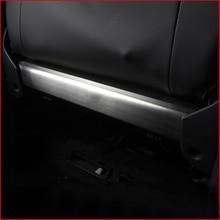 lsrtw2017 stainless steel car seat rear anti-kick panel with R-line letter for volkswagen tiguan t-roc Atlas Teramont jetta mk6 lsrtw2017 titanium black car armrest rear anti kick pedal for volkswagen t roc 2017 2018 2019 2020