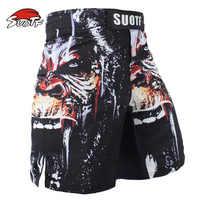 Short de Boxe élastique MMA malles de Boxe en colère gorille Sports Fitness pantalon de sport Muay Thai short d'entraînement Kickboxing Shorts de Boxe