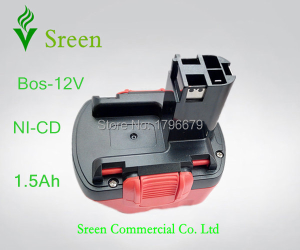 1500mAh 12V NI-CD Rechargeable Power Tool Battery Replacement for Bosch BAT139 BAT043 BAT045 BAT046 BAT049 BAT120 GSR12 PSR12