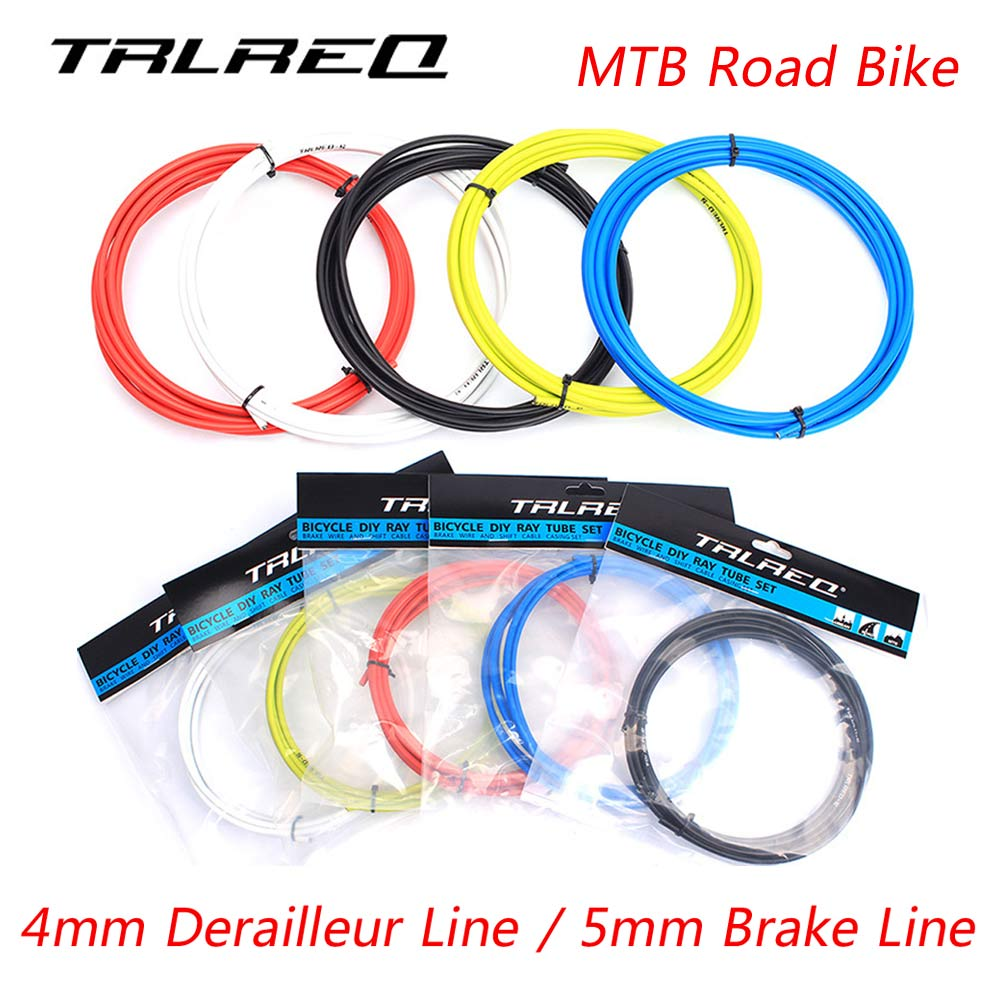 TRLREQ 3 Meters 4/5mm High Toughness MTB Mountain Road Bike Brake Cable Line Bicycle Derailleur Line Tube Cycling Accessories mking mountain bike bicycle brake line tube kit black