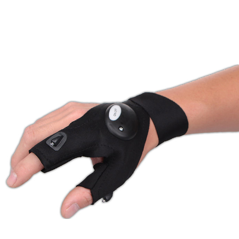 1pc LED Glove Universal Torch Plastic LED Flashlight Gloves for Fishing Sporting