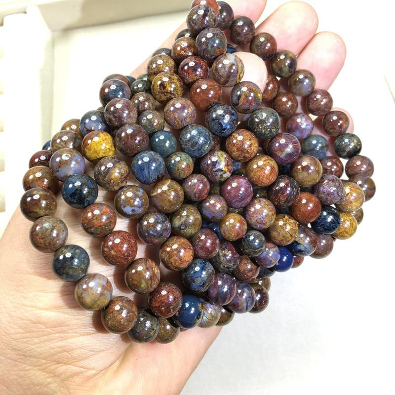 Pietersite pierre ronde 8-9mm bracelet 7.5 pouces FPPJ gros perles nature incroyablePietersite pierre ronde 8-9mm bracelet 7.5 pouces FPPJ gros perles nature incroyable