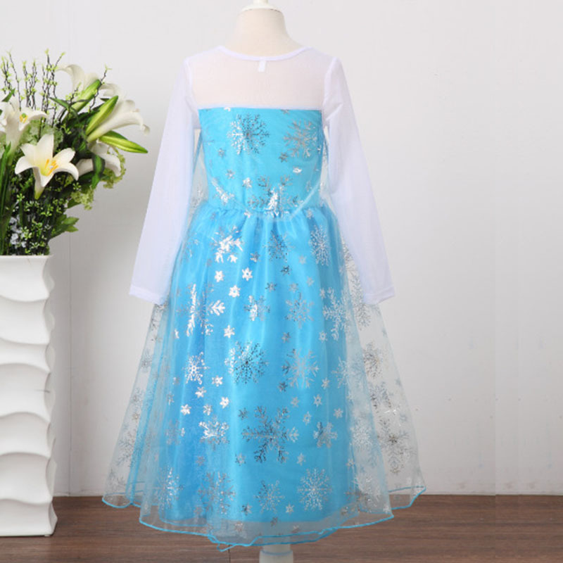 HTB19U4XmRTH8KJjy0Fiq6ARsXXaI 2019 Elsa Dresses For Girls Princess Anna Elsa Costumes Party Cosplay Elza Vestidos Hair Accessory Set Children Girls Clothing