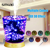 Multicolour 3D LED 100ml Air Humidifier Essential Oil Aromatherapy Diffuser Lamp Mini Aroma Diffuser Night Lights