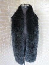 2016 Braid Real fox fur black scarf / cape  collar    SHIPPING FREE