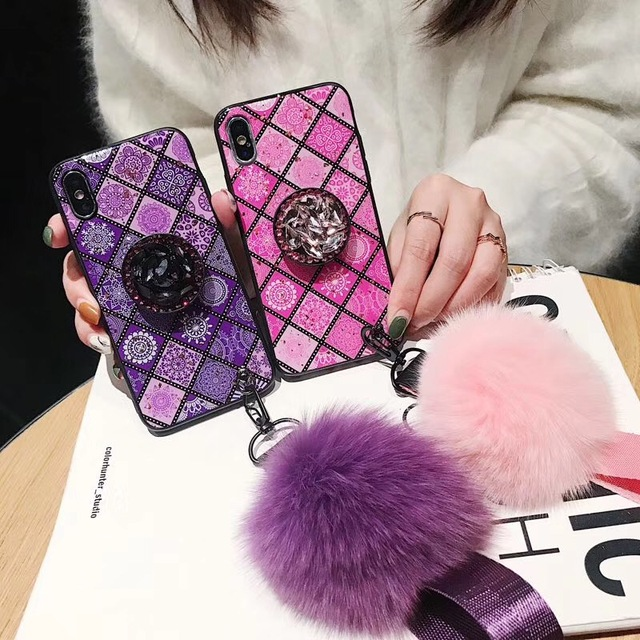 iphone xs max case with pom pom