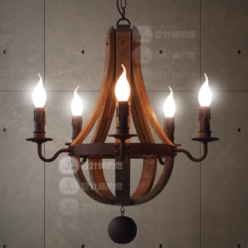 Nordic American Retro Chandelier Pendant Lamp Vintage Rustic Color Iron Lighting Fixture For Living Room Bar Counter In Lights From