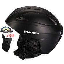 MOON Лидер продаж горнолыжный шлем интегрально-литой Лыжный Спорт Шлем для взрослых и детей снег шлем безопасности скейтборд горнолыжный шлем сноуборд