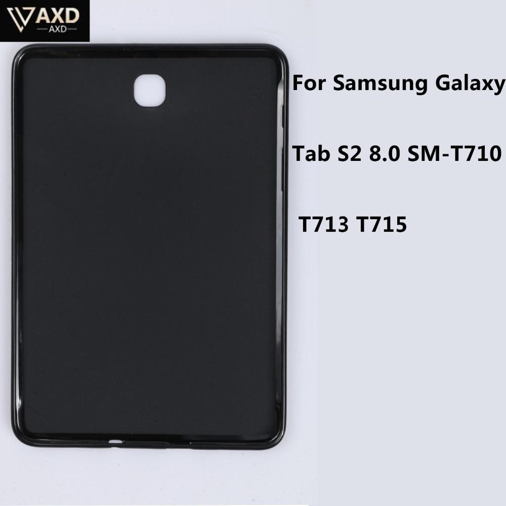 Capa para tablet samsung galaxy tab s2 8.0 SM-T710 t713 t715 macio claro tpu capa traseira silicone à prova dwaterproof água à prova de choque casos