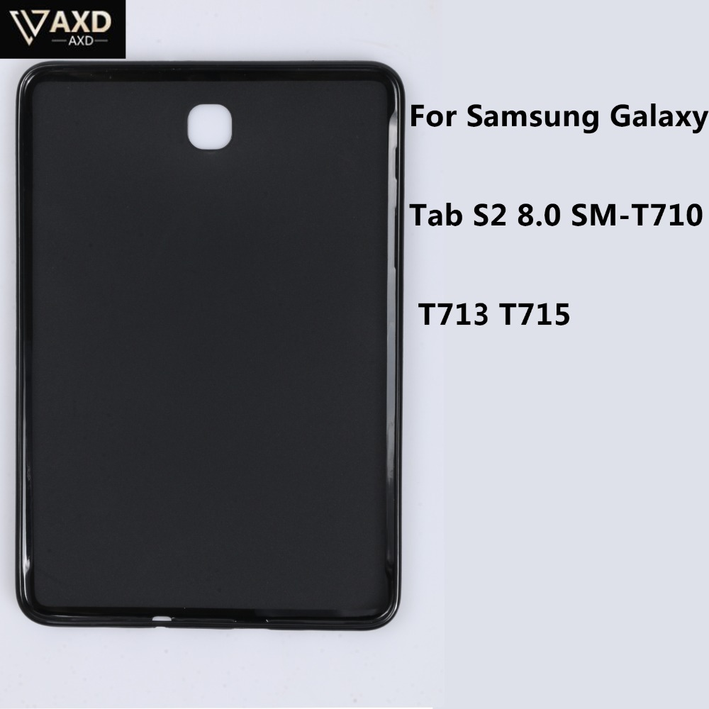 Fall Für Tablet Samsung Galaxy Tab S2 8,0 <font><b>SM</b></font>-T710 <font><b>T713</b></font> T715 Soft Clear TPU Back Cover Silicon Fall Wasserdicht Stoßfest fällen image