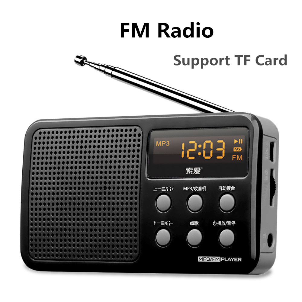 Mini Portable Radio FM/AM/SW Radio MP3 Player Multiband Radio Camping Hiking Outdoor Sports FM Radio Speaker Support TF Card