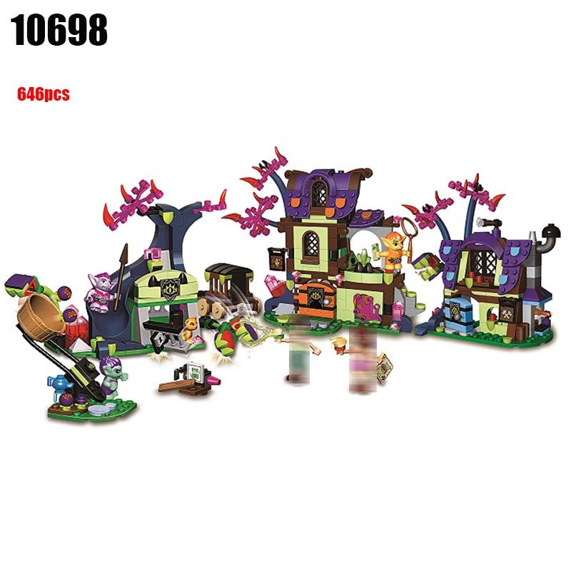 Toys & Hobbies Dependable 10698 646pcs Girls Elves Magic Rescue From The Goblin Village Bela Compatible 41185 Building Blocks Toy Special Summer Sale Model Building