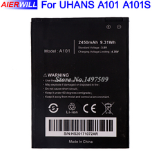 For UHANS A101 A101S Battery Bateria Batterij Accumulator 2450mAh