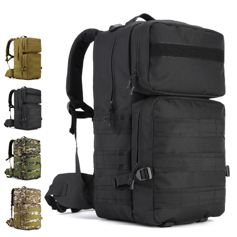 55 Liter Military Tactical Mountaineering Bag Outdoor Sports Backpack Waterproof Field Pack Hiking Luggage Rucksacks Men