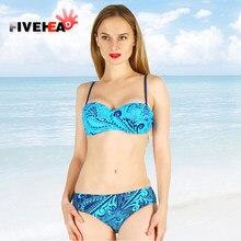 7a234a3f43 MAMAMIA women bikini plus size two pieces XXL-6XL low waist blue water  swimwear girl push-up padded bra big size large swimsuit