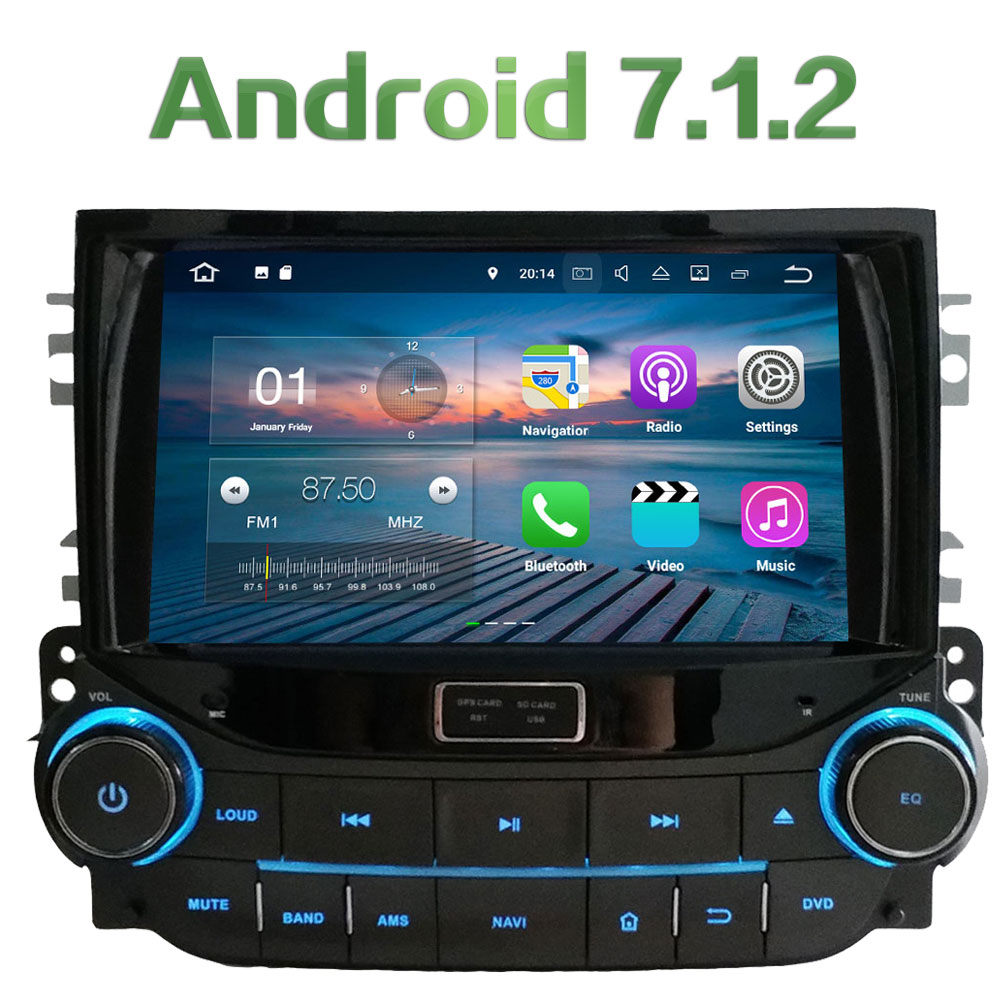 Android 7 1 2 Quad Core 2GB RAM 8 Car Multimedia Stereo GPS Navigation touch screen