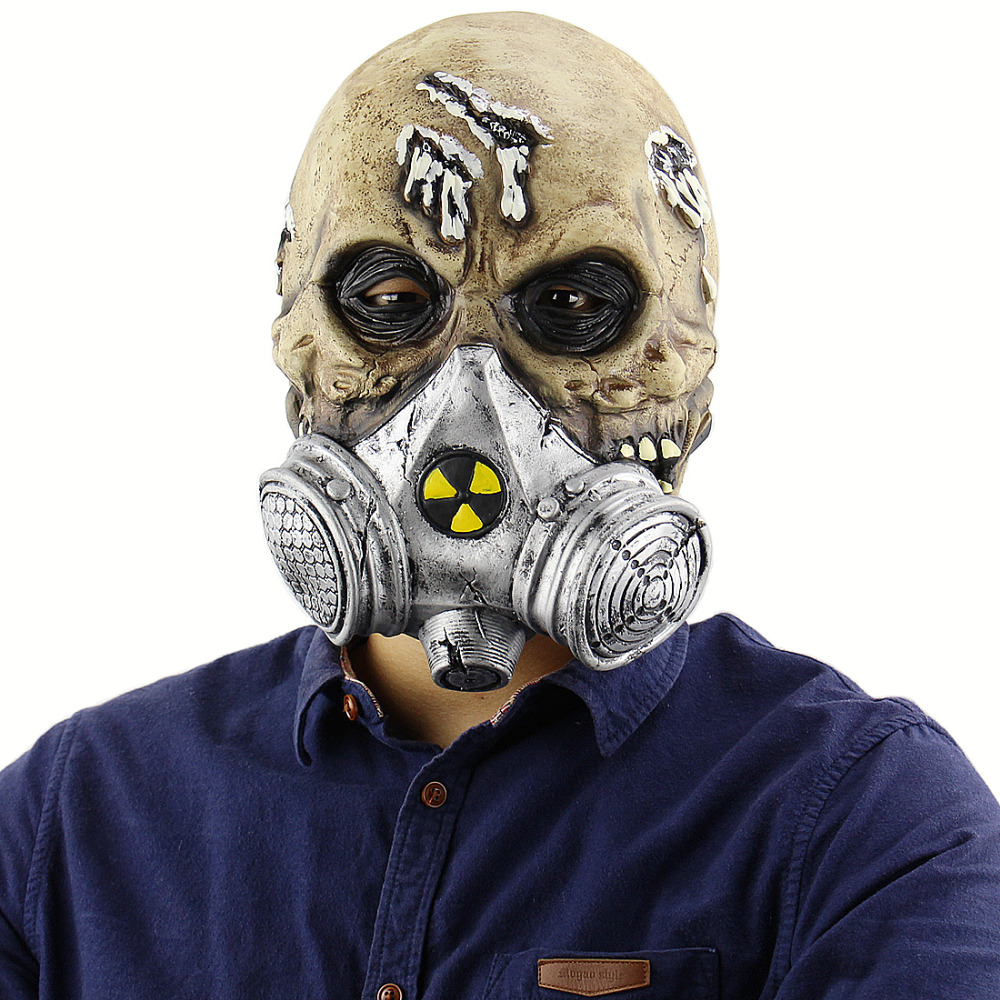Horrible Halloween Mask Biochemistry Skeleton Soldiers Mask Zombie Mask Masquerade Scary Masks Halloween Party Costume Prop in Party Masks from Home Garden