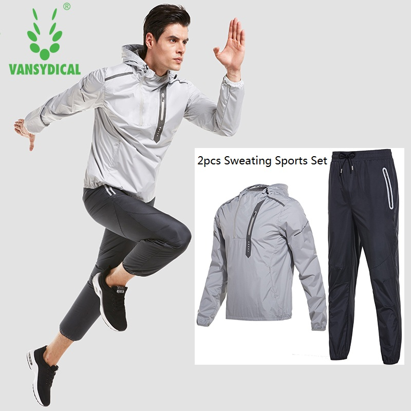 Mens Running Training Hoodies Pants Sets Gym Clothing Sets Man Fitness Hot Shapers Quick Sweating Sports Suits