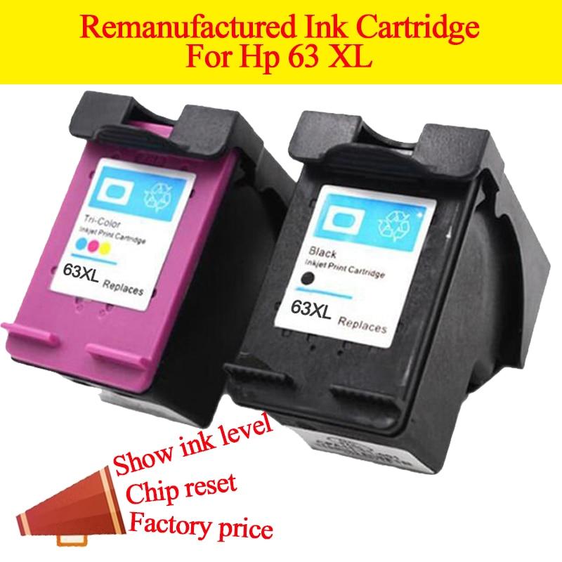 GN 2PK HP 63 63XL izgatavotai tintes kasetnei par 63 ZS par HP Envy 4520 4512 4522 4516 Deskjet 3633 3636 3634 3632 3631
