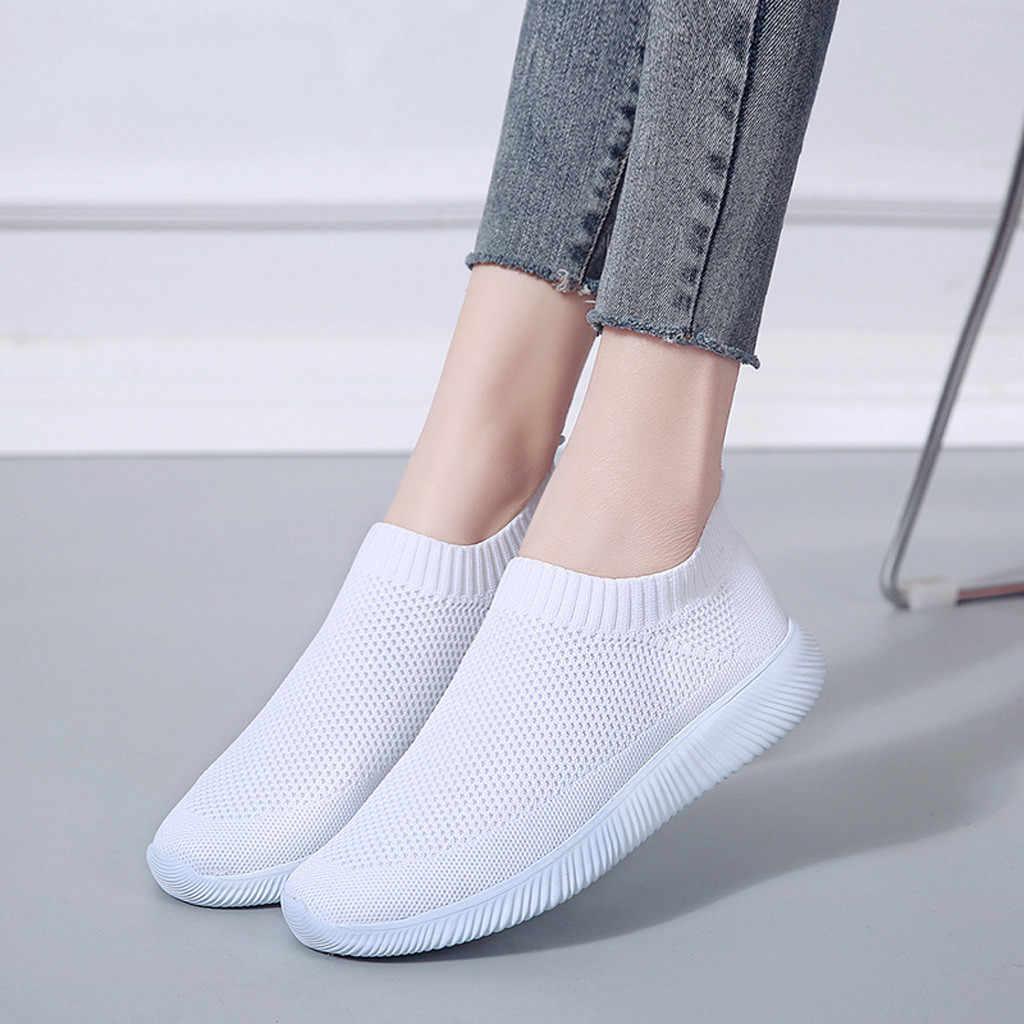 KANCOOLD 35-43 حجم كبير شبكة أحذية رياضية النساء الرجال Runing تنفس الأحذية بلون مريح المدربين زلة أحذية رياضية