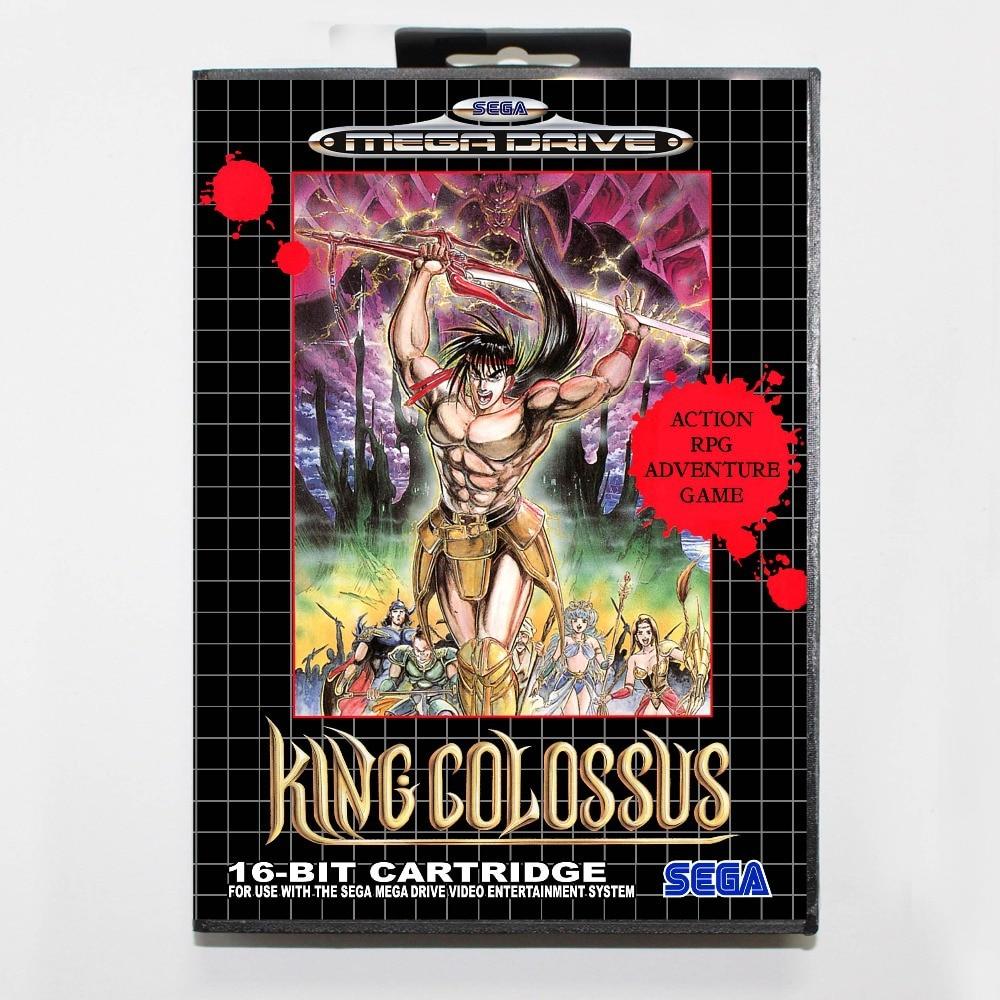 King Colossus Game Cartridge 16 bit MD Game Card With Retail Box For Sega Mega Drive For Genesis