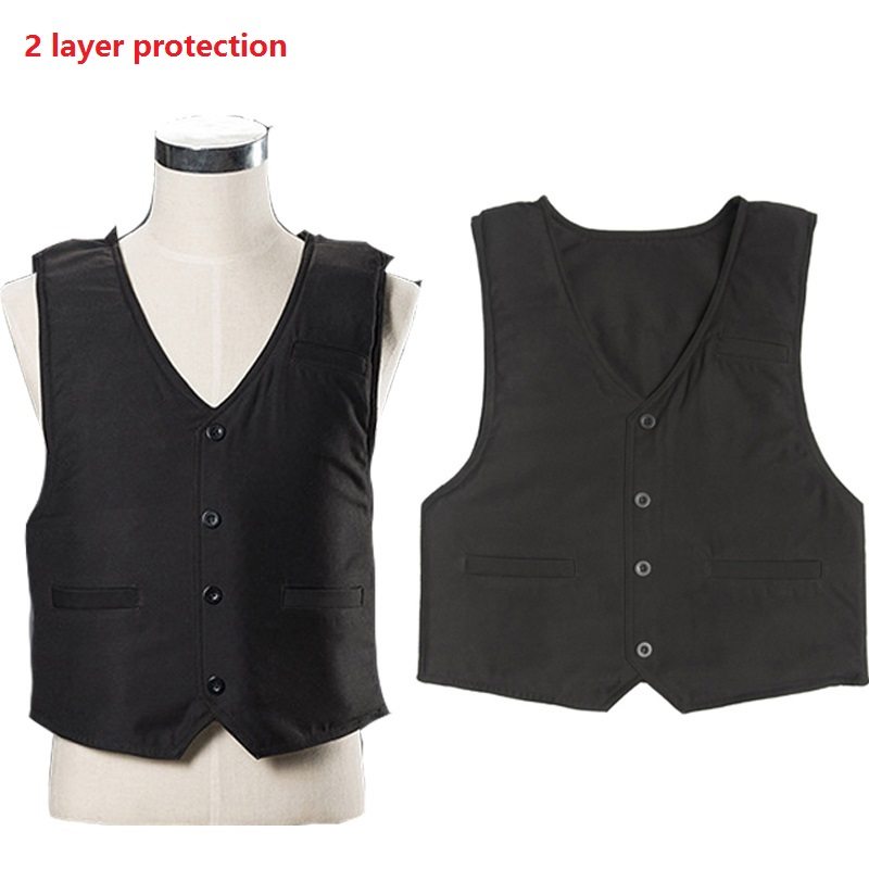 Effectively Block 24 Joules 4 Layer Stab Resistant Vest Soft Self-Defense Police Use Schutzweste Tatico Anti Covert Stab Vest цена