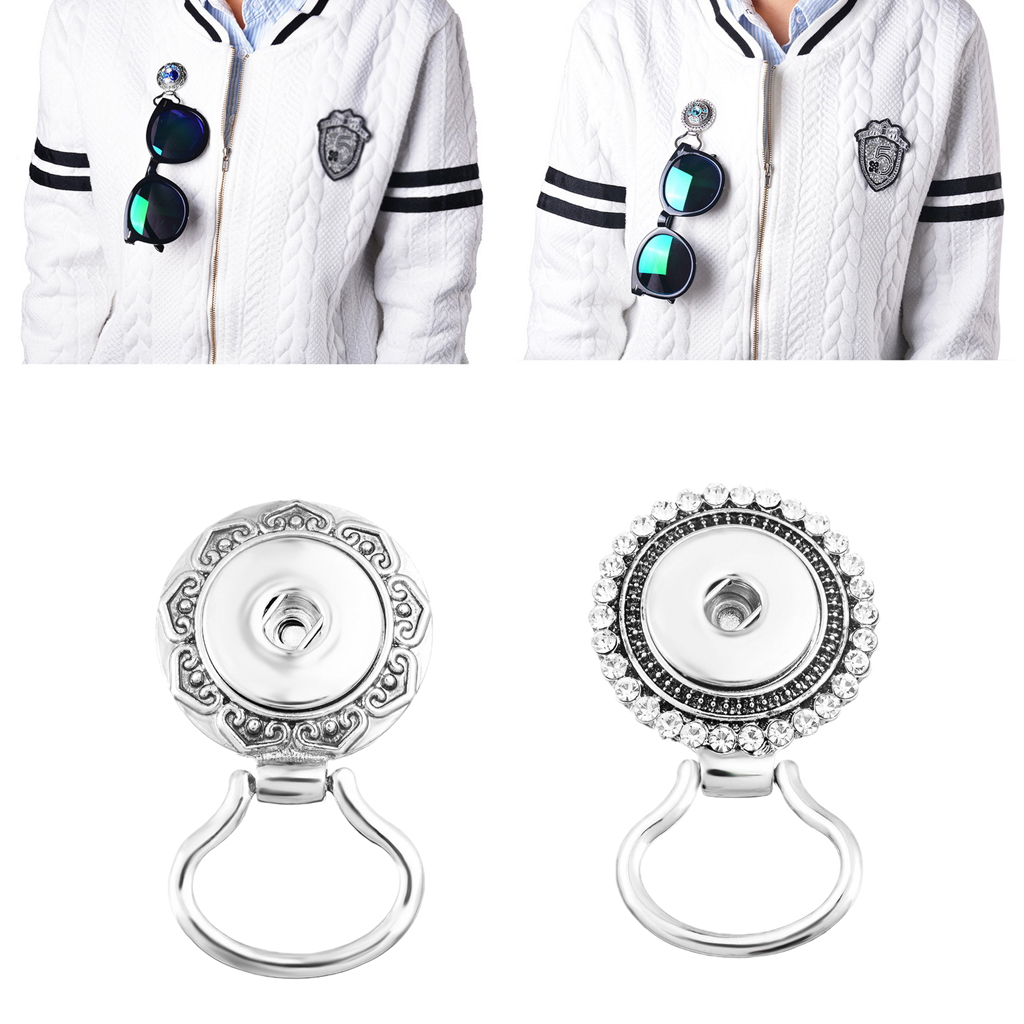 Silver Alloy Snap Button Magnetic Eyeglass Spectacles