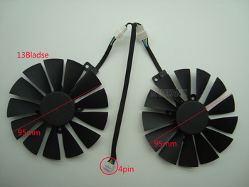 Free Shipping T129215SM 95mm Cooler Fan For ASUS STRIX RX 470 580 570 GTX 1050Ti 1070Ti 1080Ti Gaming Video Card Cooling Fan graphic card for asus gtx 660 m g75 g75v g75vw gtx660m n13e gs1 lp a1 video vga card free shipping