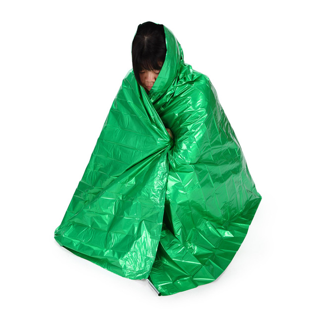 210 * 130cm Thicken Warming Emergency Blanket Climbing Outdoor Survival Kits Rescue Equipment Emergency Survival Tool Hunting