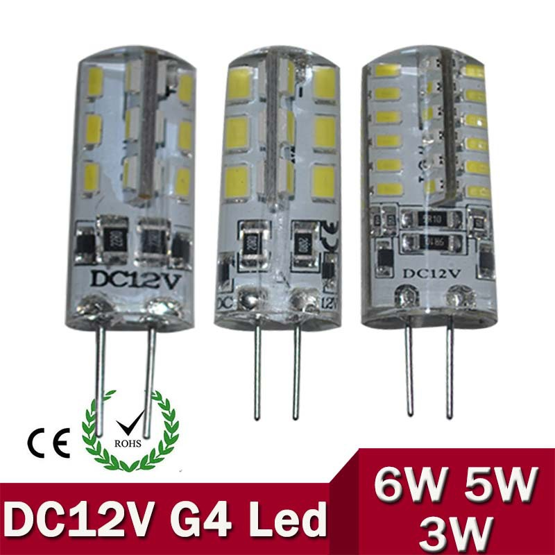 G4 LED 12V Lamp DC Led Bulb Light 3W 5W 6W Replace Halogen Lamp 360 Beam Angle Free Shipping slit lamp 12v 50w ophthmoscope bulb 12v50w mentor burton ophthalmic halogen light bulb free shipping