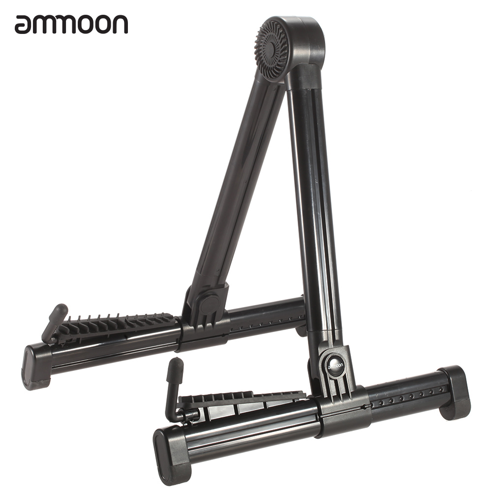 ammoon portable guitar stand holder bracket mount a frame foldable universal for acoustic classical electric