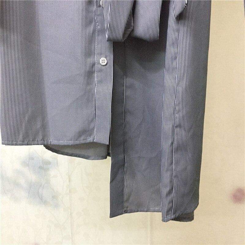 down Nouveau 2018 Qualité Mi Col Pour Turn À Manches Robe Les Longueur claf De Vente Chemise En Longues Haute Femmes APT4axq