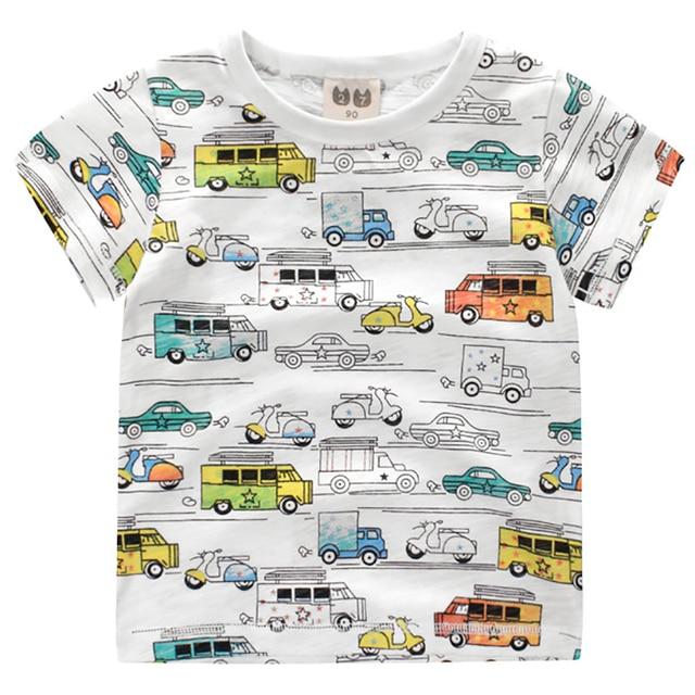 Cartoon Pattern Boys T Shirts Summer 2018 Girls Tops O-neck Cotton Short Sleeve T-shirts Boys Tees Toddler Tshirts Kids Clothing