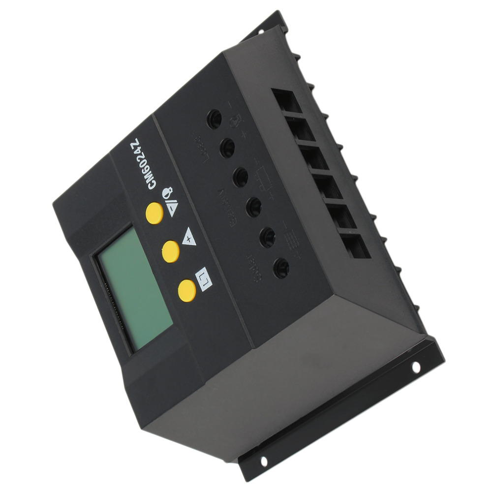 Intelligent PWM charge mode PY6024Z 60A 12-24V Solar Regulator Solar Charge Controller LCD Solar Genetator Voltage Control Hot