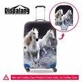 Dispalang crazy horse elastic tampa tampa da mala personalizado moda acessórios de viagem da bagagem do trole à prova d' água para os homens jovens