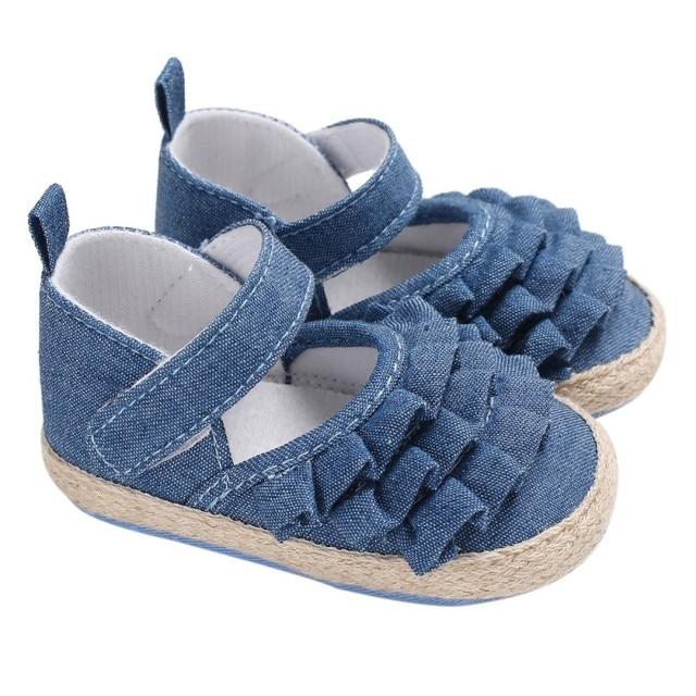 Sơ sinh Bé Trai Mùa Thu/Spring Phối Ren Bé Gái Giày Đầu Tiên Xe Tập Đi Thời Trang Đế Mềm Bé Gái Công Chúa Giày