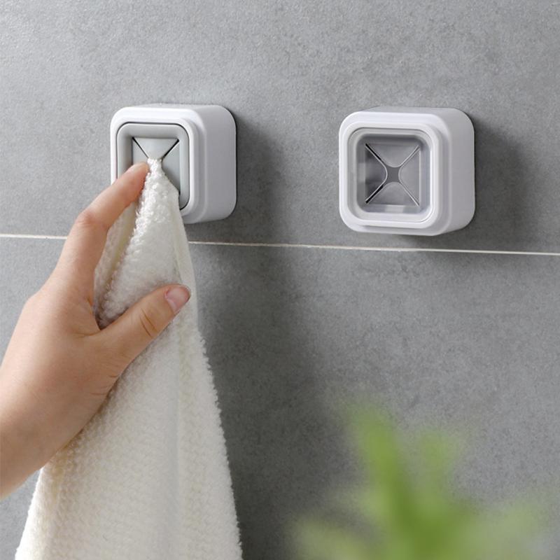 Home Portable Wall Mount Twoel Storage Wash Cloth Clip Organizer Dry Towel Holder Self Adhesive kreg corner clamp