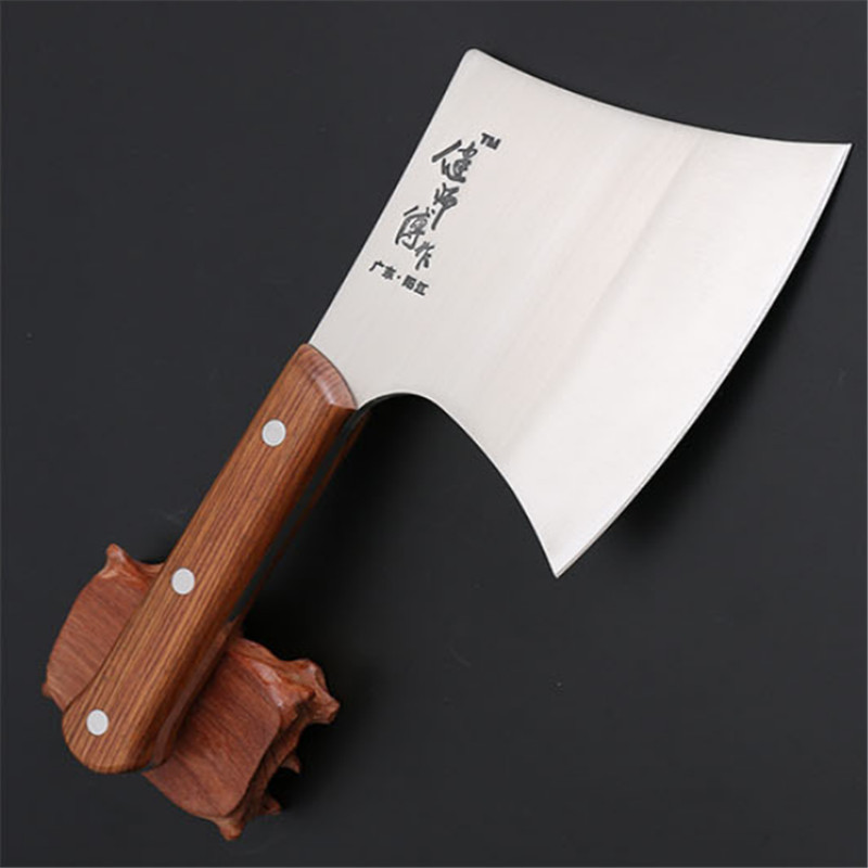 Big thick Professional Bone Cleaver Knife Stainless Steel Wood Handle Chinese Kitchen Chef Knife Meat beef