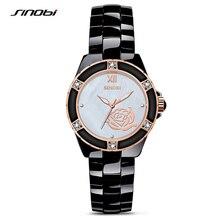 SINOBI 2017 Luxury Brand Ladies Vintage Gold Quartz Wristwatches Woman Ceramics Fashion Bracelet Watch Gift Relogio